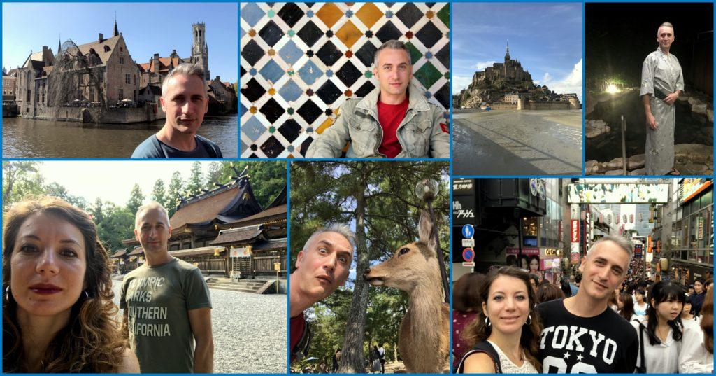 Diari di viaggio da Granada, Bruges, Mont Saint Michel, Tokyo, Nara e il Kumano Kodo